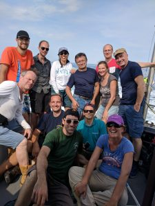 The FICE-AAOT group on their way back from the Acqua Alta Oceanographic Tower (12 July 2018