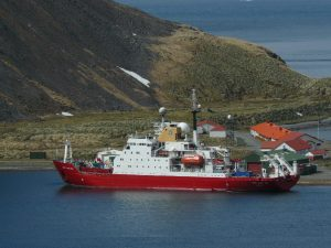 Figure 3. The Atlantic Meridional Transect Royal Research Ship, The James Clark Ross.