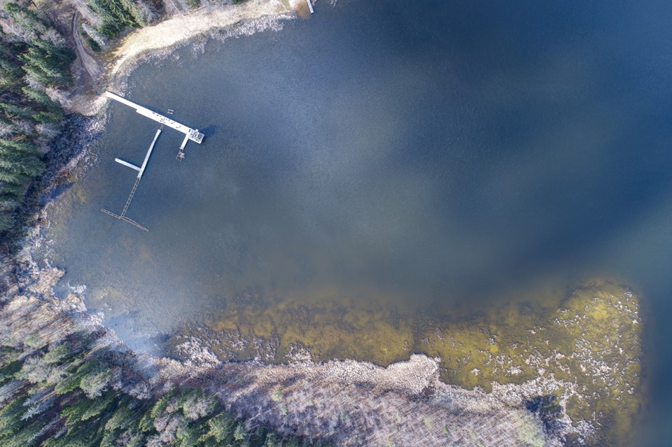 Measurement site at Lake Kääriku. Uncertainty contributions visualized on an aerial scene