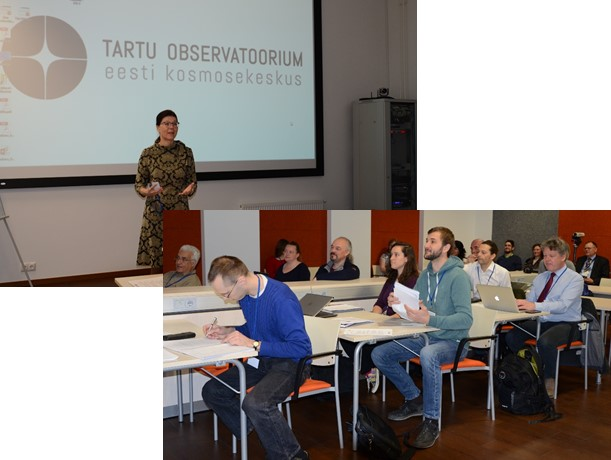 Anu Reinart, the director of Tartu Observatory opening the workshop.