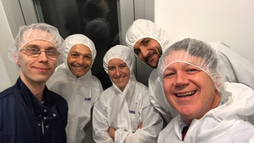 Entering the cleanrooms of Tartu Observatory.